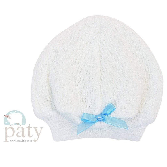 Paty Infant Apparel OS / Pink Paty White Skull Cap with Trim