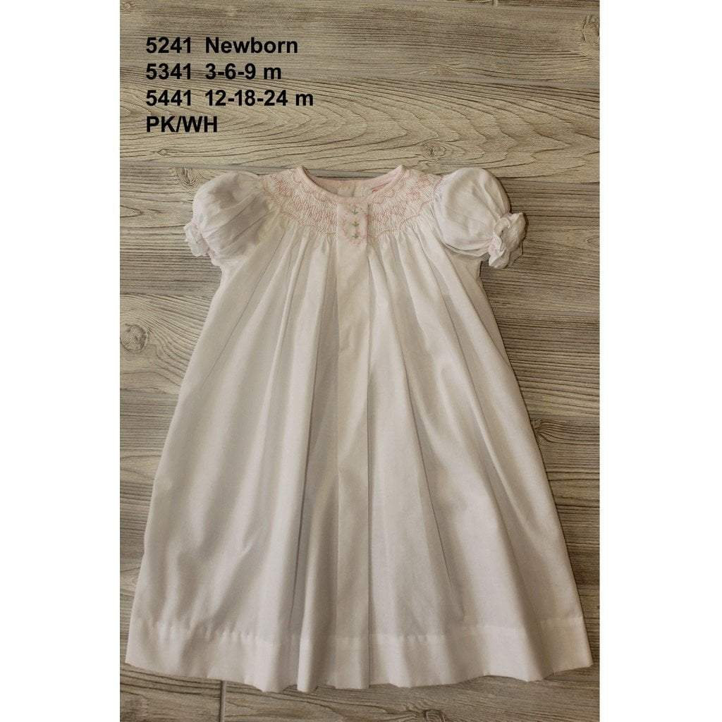 Petit Ami Infant Apparel NB / White Petit Ami Newborn Girls White Daygown