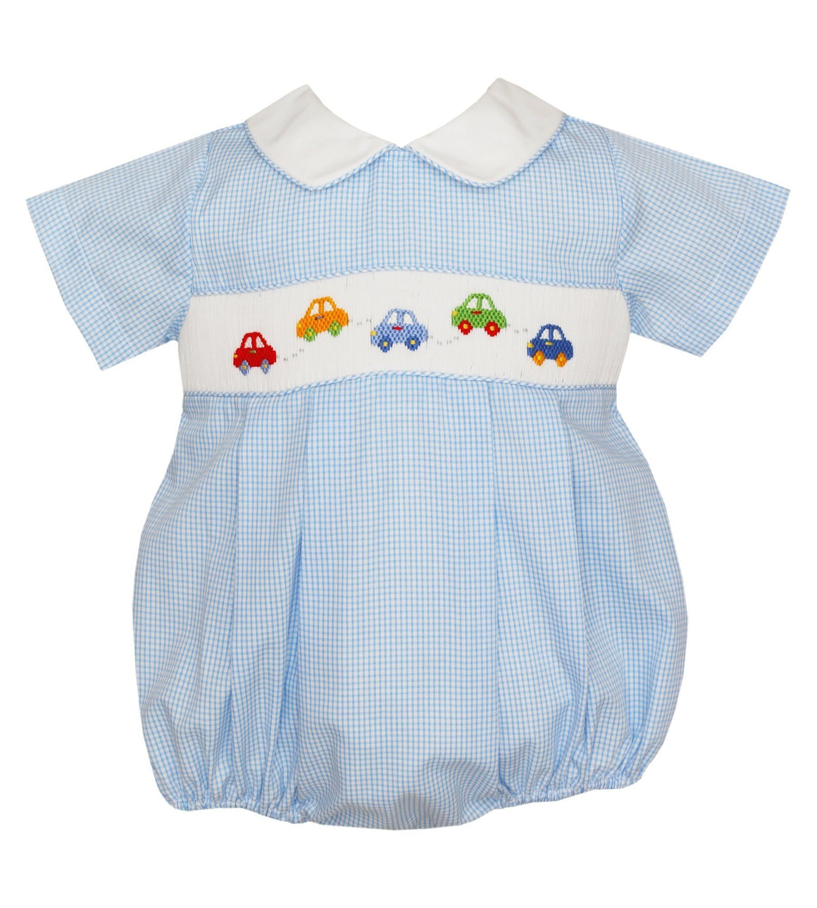 Petit Bebe Apparel 3 MO / Blue Petit Bebe Cars Boy Bubble