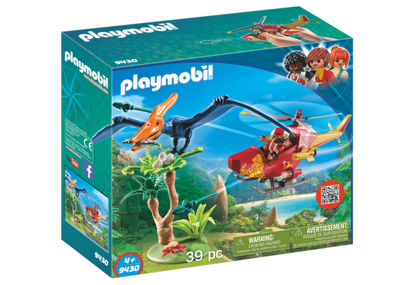 Playmobil Toys Playmobil Adventure Copter w/Pterdoactyl