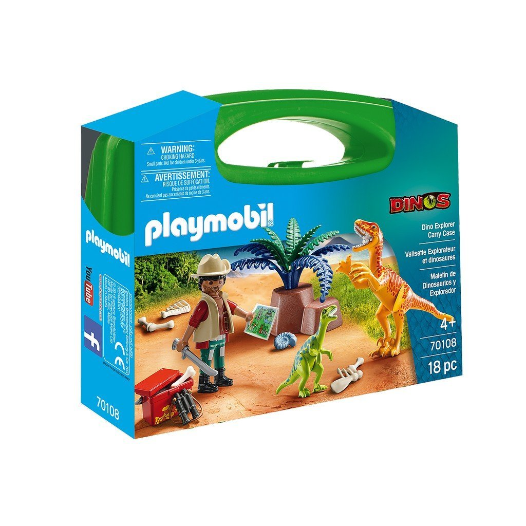 Playmobil Toys Playmobil Dino Explorer Carry Case 70108