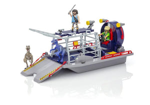 Playmobil Toys Playmobil Enemy Airboat w/Raptors