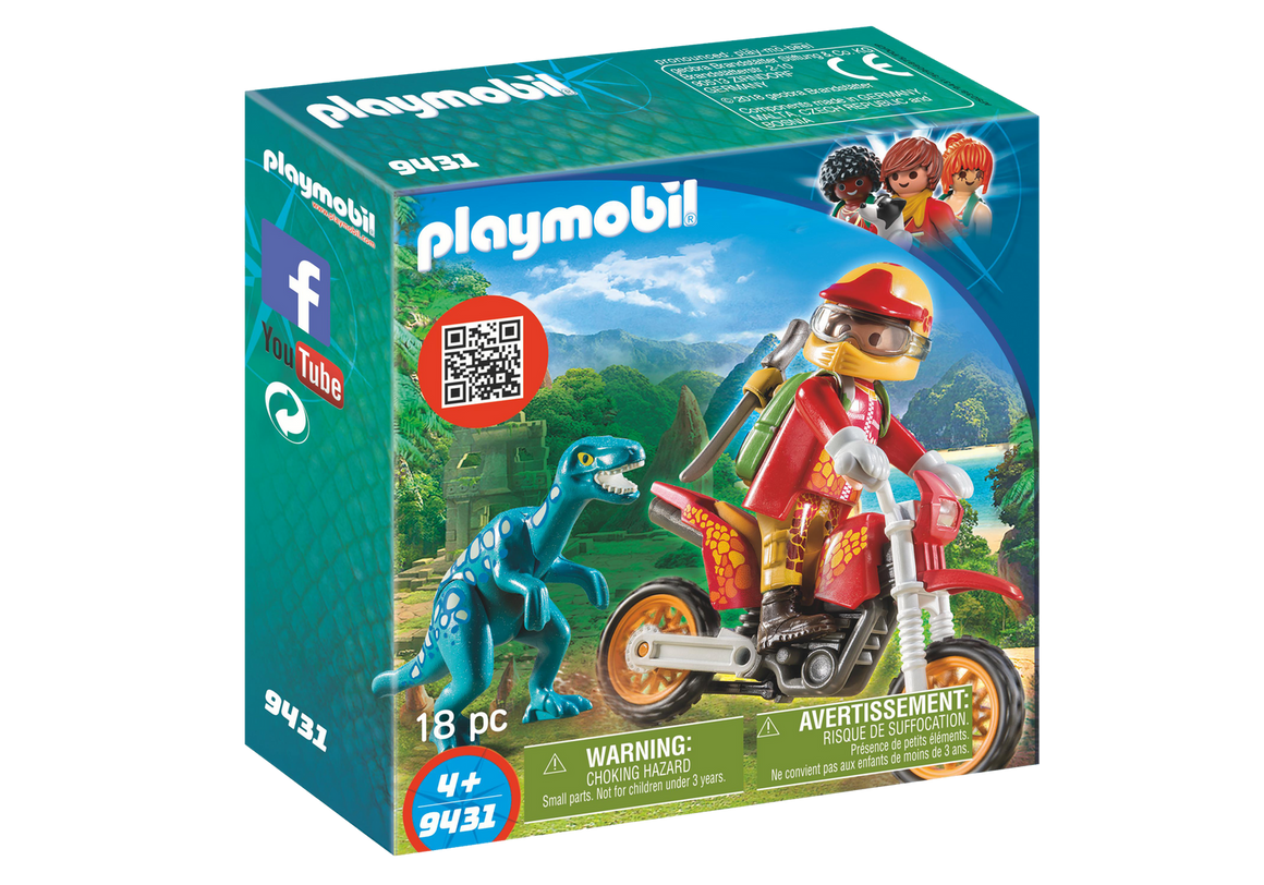 Playmobil Toys Playmobil Motocross Bike w/Raptor