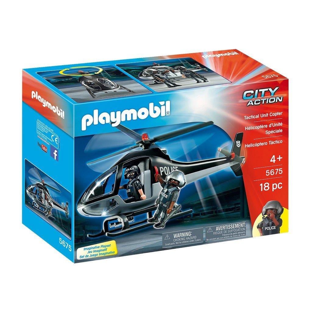 Playmobil Toys Playmobil Tactical Unit Copter 5675