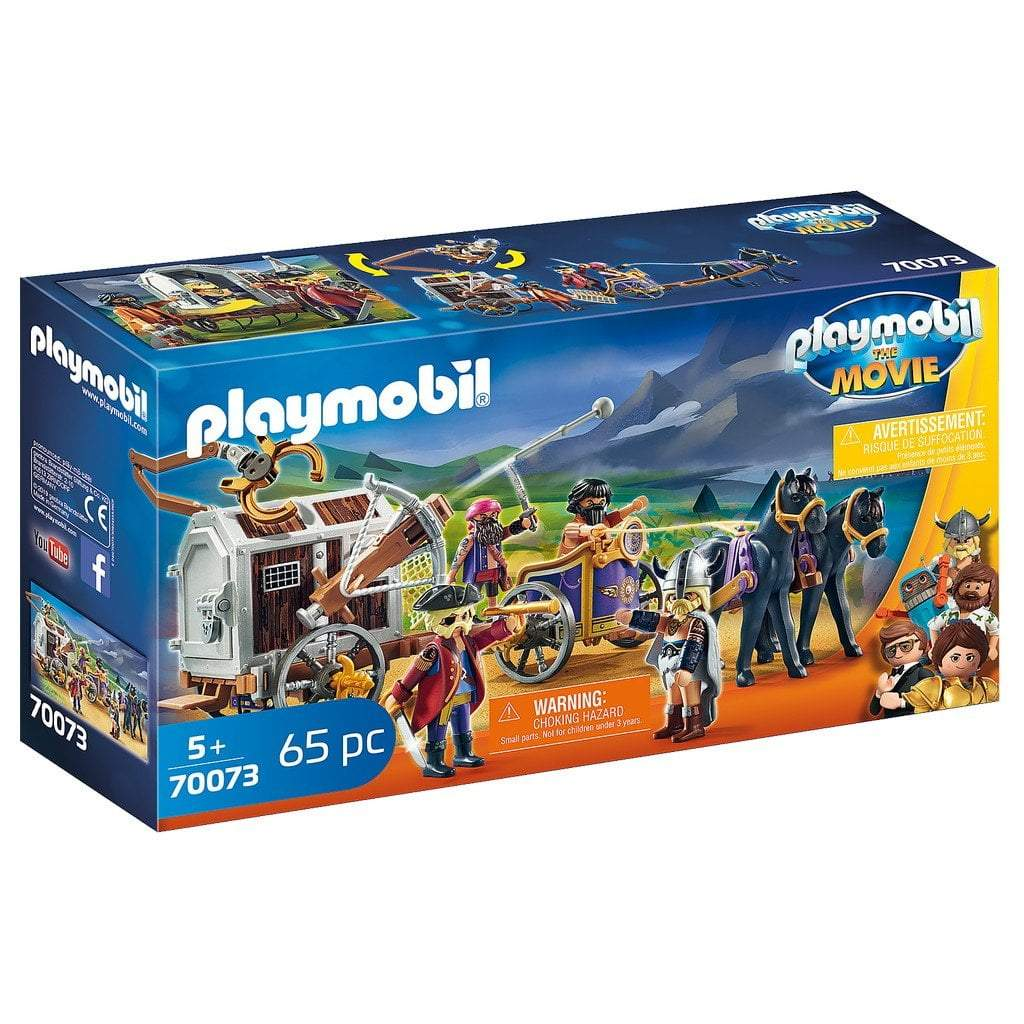 Playmobil Toys Playmobil The Movie Charlie with Prison Wagon 70073