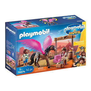 Playmobil Toys Playmobil The Movie Marla and Del with Flying Horse 70074