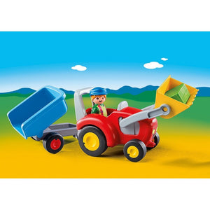 Playmobil Toys Playmobil Tractor with Trailer 6964