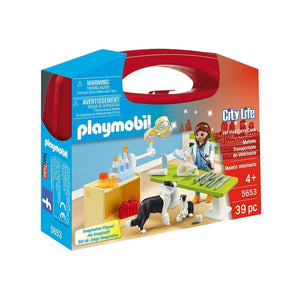Playmobil Toys Playmobil Vet Visit Carry Case 5653
