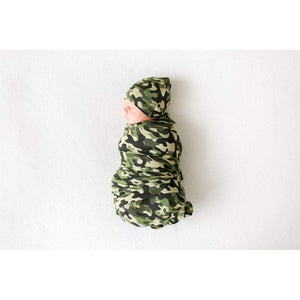 Posh Peanut Apparel Cash / Newborn Posh Peanut Infant Swaddle and Beanie Set Cadet