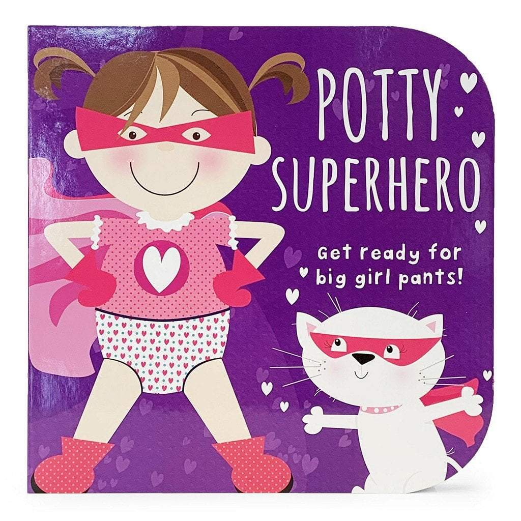 Cottage Door Press Gifts & Apparel Potty Superhero (Girl) Children's Board Book