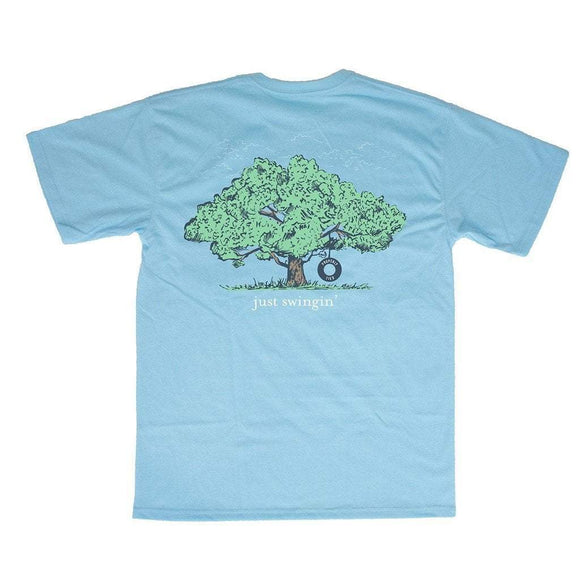 Properly Tied Boys Apparel 5 / Aqua Properly Tied Lil Ducklings Just Swingin' Boys Short Sleeve Shirt Aqua