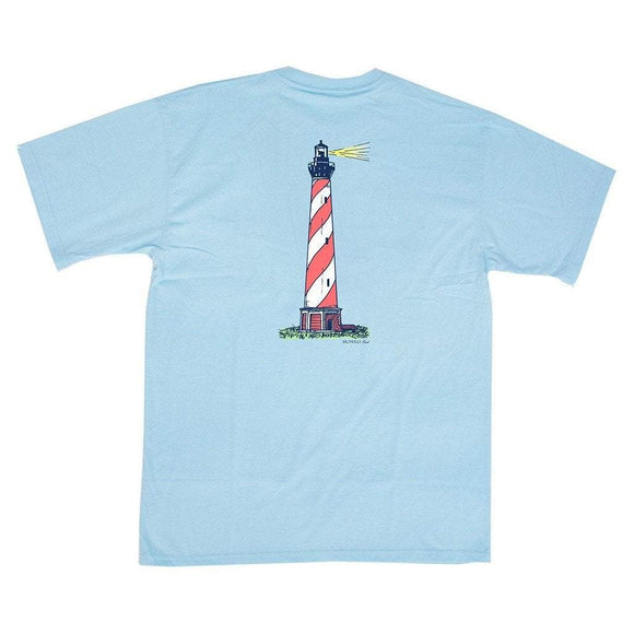 Properly Tied Boys Apparel 5 / Blue Properly Tied Lil Ducklings Lighthouse Boys Short Sleeve Shirt Ice Blue
