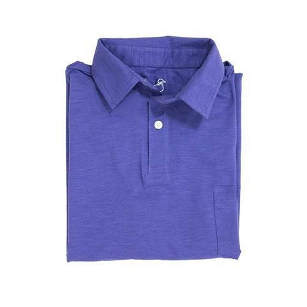 Properly Tied Boys Apparel 5 Properly Tied Lil Ducklings Navy Cotton Pocket Polo Shirt