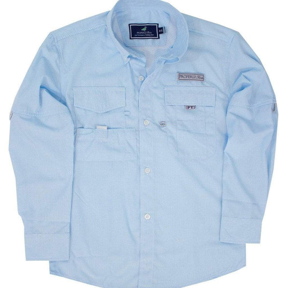 Properly Tied Boys Apparel 7 / Aqua Properly Tied Lil Ducklings Performance Fishing Shirt Aqua