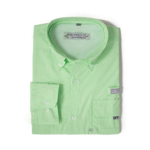 Properly Tied Boys Apparel 4T/4 / Green Properly Tied Lil Ducklings Performance Fishing Shirt Light Green