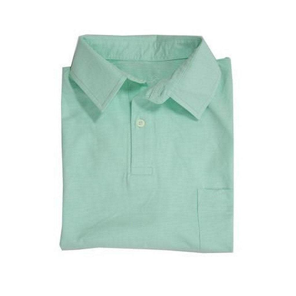 Properly Tied Boys Apparel 5 Properly Tied Lil Ducklings Seafoam Cotton Pocket Polo Shirt