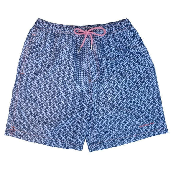 Properly Tied Boys Apparel 5 / Teal Properly Tied Lil Ducklings Swim Trunks Santorini