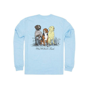 Properly Tied Boys Apparel 10-12 / Powder Blue Properly Tied Lil Ducklings Triple Dog Long Sleeve T-Shirt Powder Blue