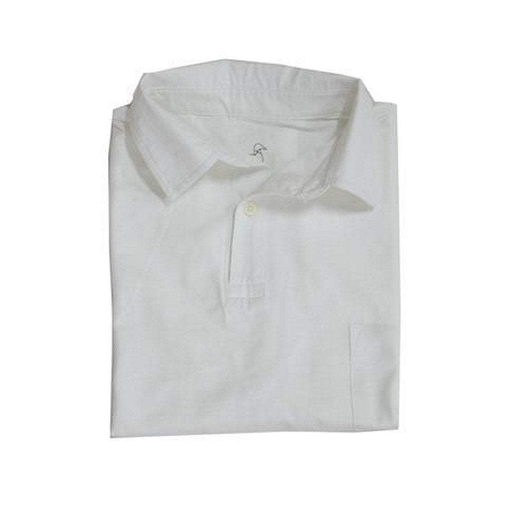 Properly Tied Boys Apparel 5 Properly Tied Lil Ducklings White Cotton Pocket Polo Shirt