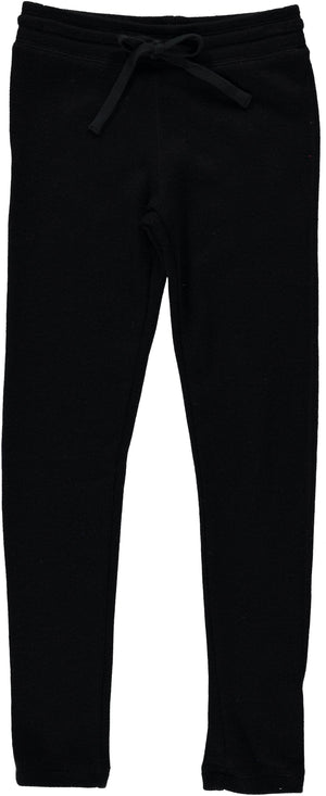 Ragdolls & Rockets Girls Apparel 7 / Black Ragdolls & Rockets Girls Black Ribbed Leggings