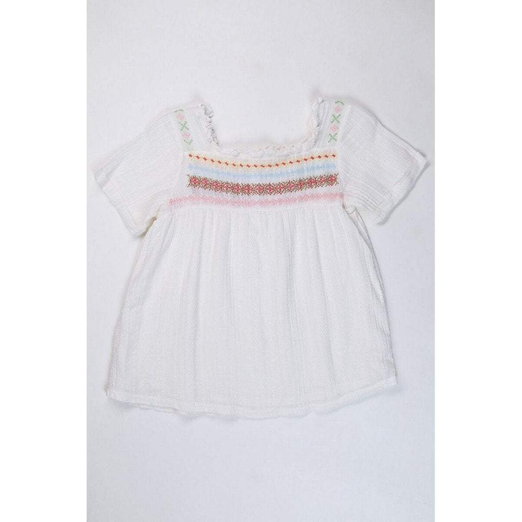 Ragdolls & Rockets Girls Apparel 7 Ragdolls & Rockets Girls Embroidered Bohemian Top