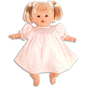 Rosalina Dolls Dolls Rosalina Boutique Jade Baby Doll Pink Smocked Dress