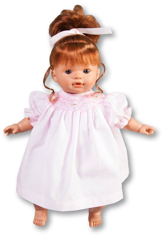 Rosalina Dolls Dolls Rosalina Boutique Scarlett Baby Doll Pink Smocked Dress