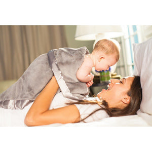 Saranoni Receiving Blanket Lush Grey with Satin Grey-Nursery Decor-Babysupermarket