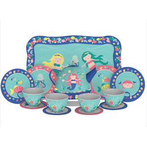 Schylling Mermaid Tin Tea Set For Play-Toys-Babysupermarket