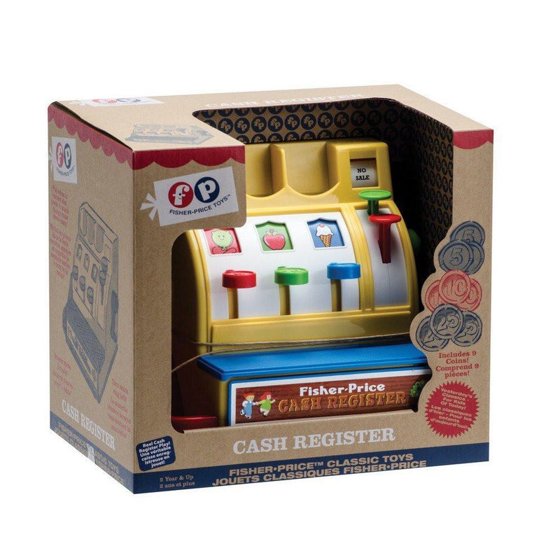 Vintage Fisher Price Toy Cash Register At Baby Supermarket
