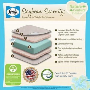 Sealy Nature Couture Soybean Serenity Crib Mattress-Furniture-Babysupermarket