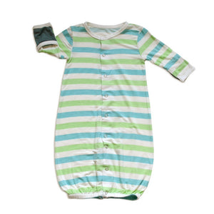 Silkberry Baby Gifts & Apparel Newborn / Blue Silkberry Baby Bamboo Converter Gown Popsicle Stripe