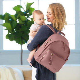 Skip Hop Greenwich Backpack Diaper Bag Dusty Rose-Baby Gear-Babysupermarket