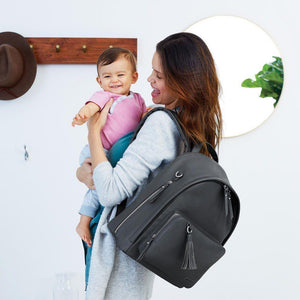 Skip Hop Greenwich Backpack Diaper Bag Smoke-Baby Gear-Babysupermarket