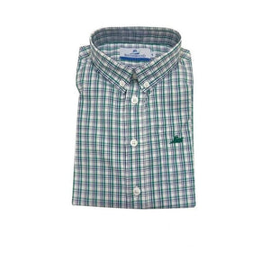 Southbound Boys Apparel 12 / Green Southbound Boy's Dress Shirt Blue Green Plaid