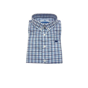 Southbound Boys Apparel 12 / Multi Southbound Boy's Dress Shirt Blue Multi Check