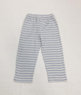 Squiggles by Charlie Boys Apparel 2T / Multi Squiggles by Charlie Boys Blue and Ecru Stripe Pima Cotton Pants
