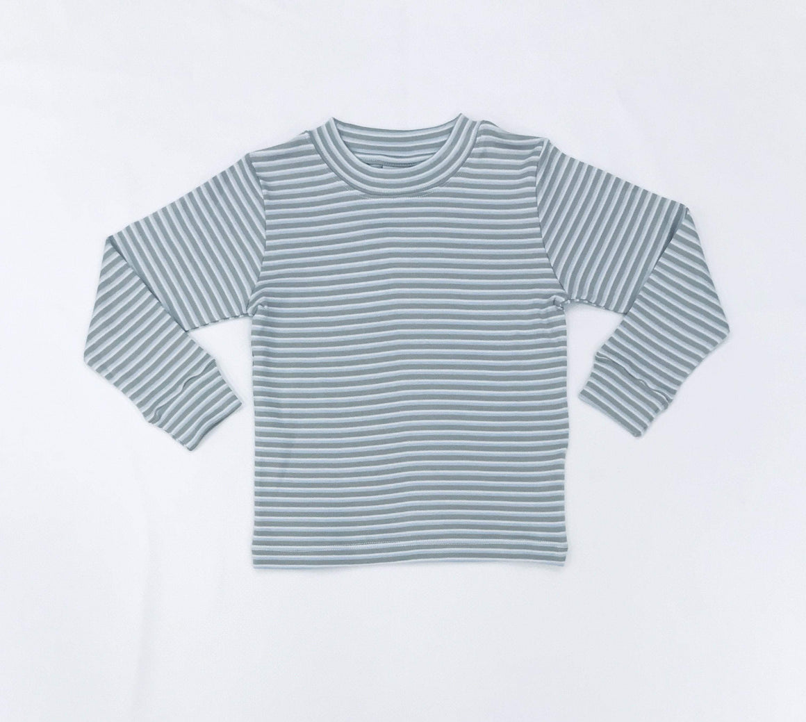 Squiggles by Charlie Boys Apparel Squiggles by Charlie Boys Blue and Grey Stripe Shirt