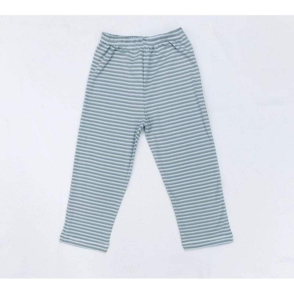Squiggles by Charlie Boys Apparel 2T / Multi Squiggles by Charlie Boys Blue/Grey/Ivory Pima Cotton Pants
