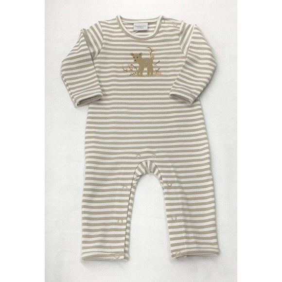 Squiggles by Charlie Boys Apparel 18M / Taupe Squiggles by Charlie Boys Fawn Appliqued Stripe Longall