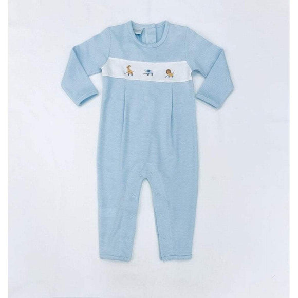 Squiggles by Charlie Boys Apparel 12M / Light Blue Squiggles by Charlie Boys Safari with Panel Light Blue Striped Longall