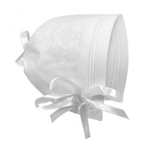 Stephan Baby Christening Bonnet Cross-Gifts & Apparel-Babysupermarket