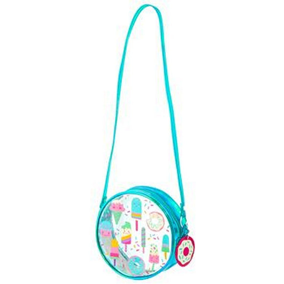 Stephen Joseph Toys Stephen Joseph Girl's Iridescent Crossbody Purse- Sweets