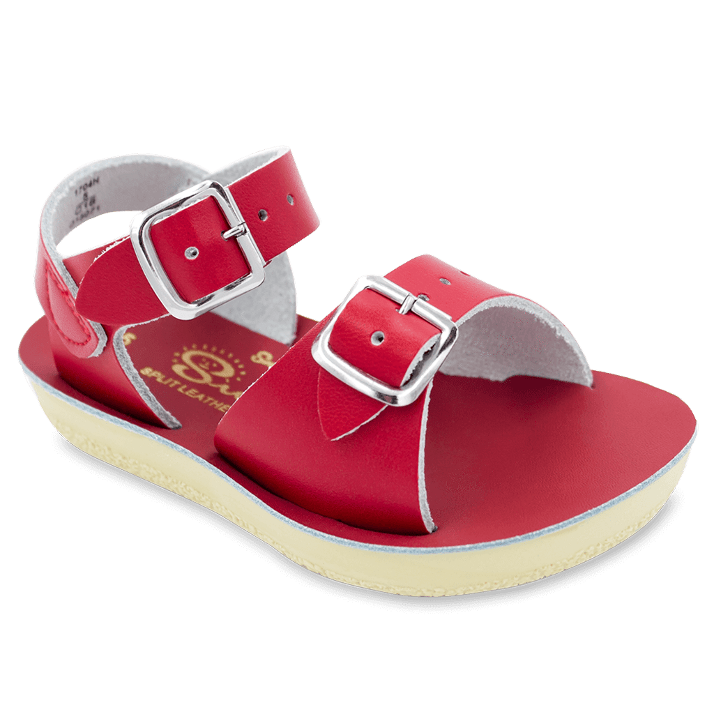 Hoy Shoes Shoes 5 / Red Sun San Red Surfer Sandals by Hoy Shoes
