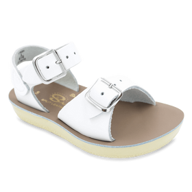 Hoy Shoes Shoes 5 / White Sun San White Surfer Sandals by Hoy Shoes