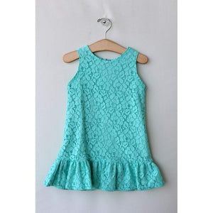 Susanne Lively Designs Girls Apparel 7 Susanne Lively Designs Girls Seafoam Lace Aline Dress with Ruffle Hem