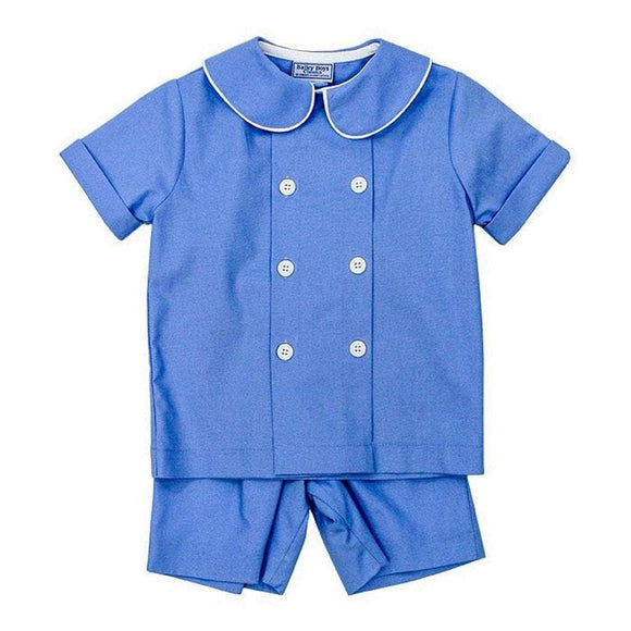 The Bailey Boys Boys Apparel 2T / Blue The Bailey Boys Cascade Blue Boys Dressy Short Set