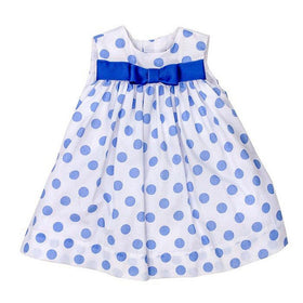 The Bailey Boys Girls Apparel 2T / Blue The Bailey Boys Periwinkle Polka Dot Girls Float Dress