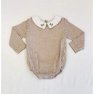 The Oaks Apparel Apparel 12 Mo / Brown The Oaks Baylor Brown Plaid Duck Bubble