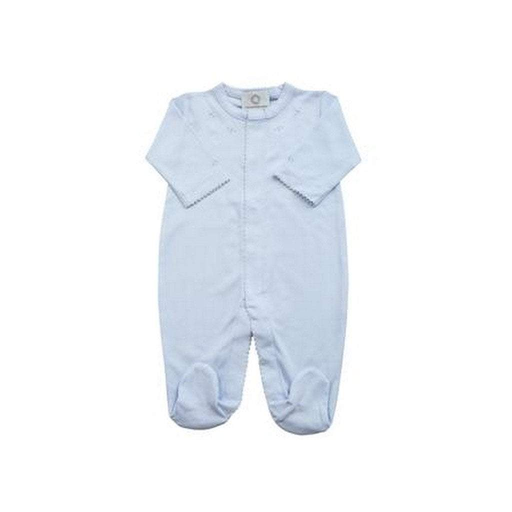 The Proper Peony Apparel NB / Blue The Proper Peony Layette Pima Footie Pajamas